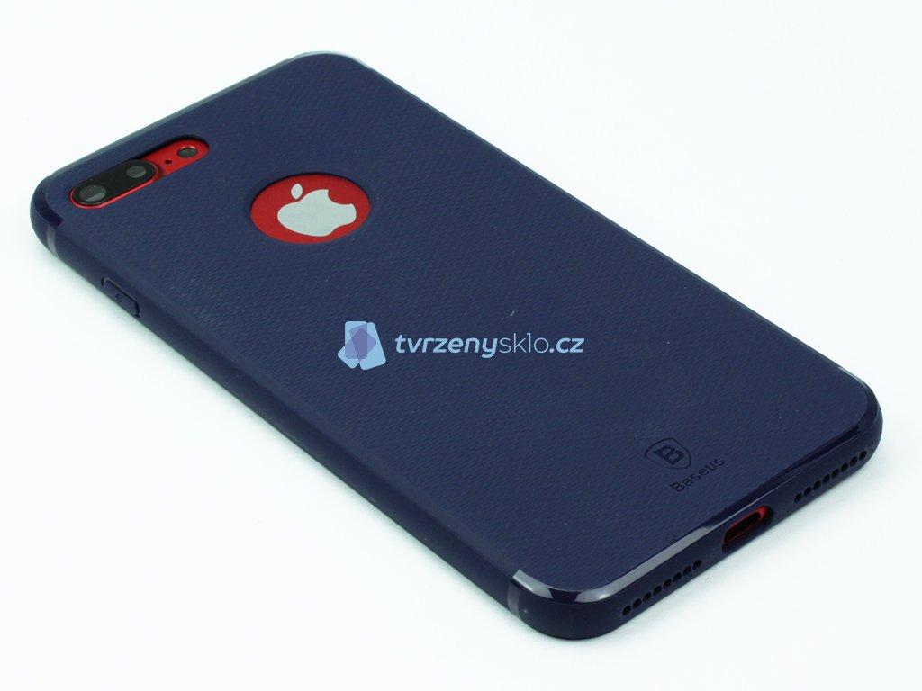 Gumový obal Baseus Hermit Bracket pro iPhone 7 Plus, 8 Plus Modrý