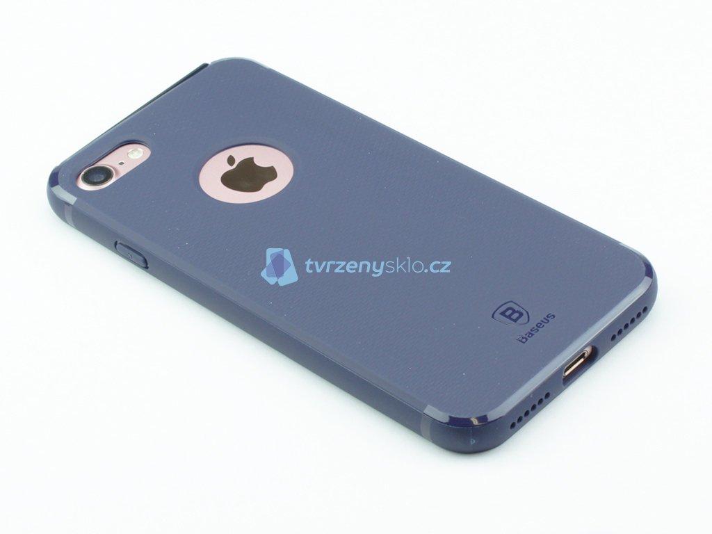 Gumový obal Baseus Hermit Bracket pro iPhone 7, 8 Modrý