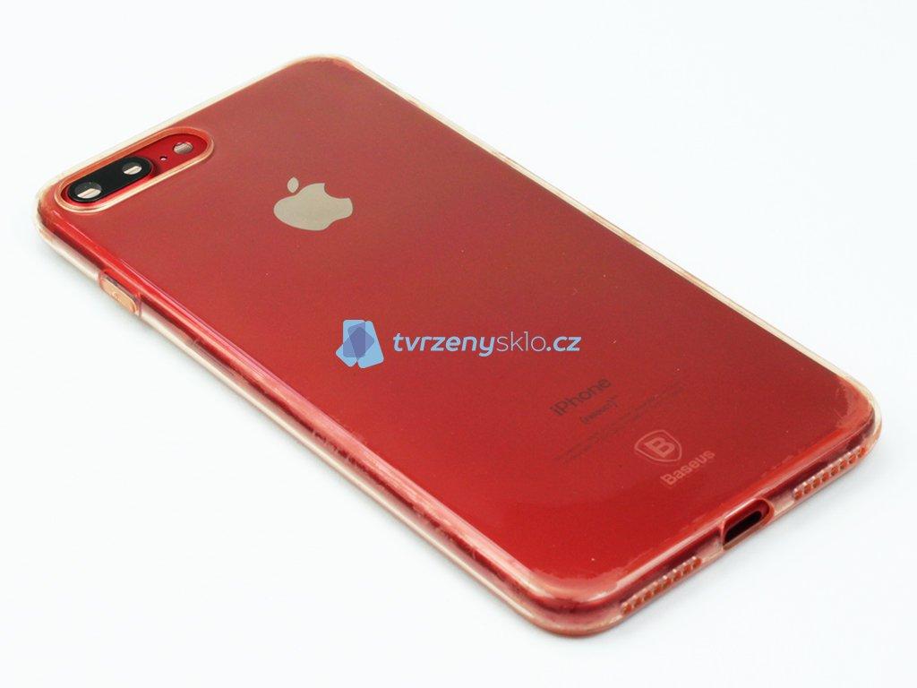 Gumový obal Baseus Simple Series pro iPhone 7 Plus, 8 Plus Růžový
