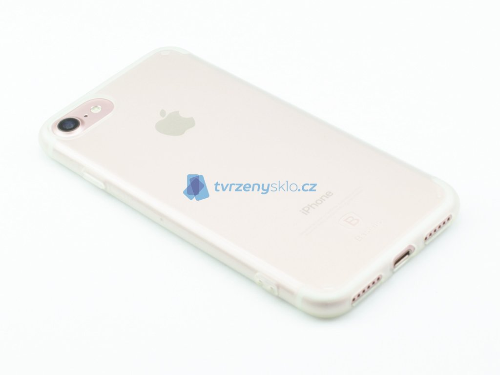 Gumový obal Baseus Simple Series pro iPhone 7, 8 Průhledný