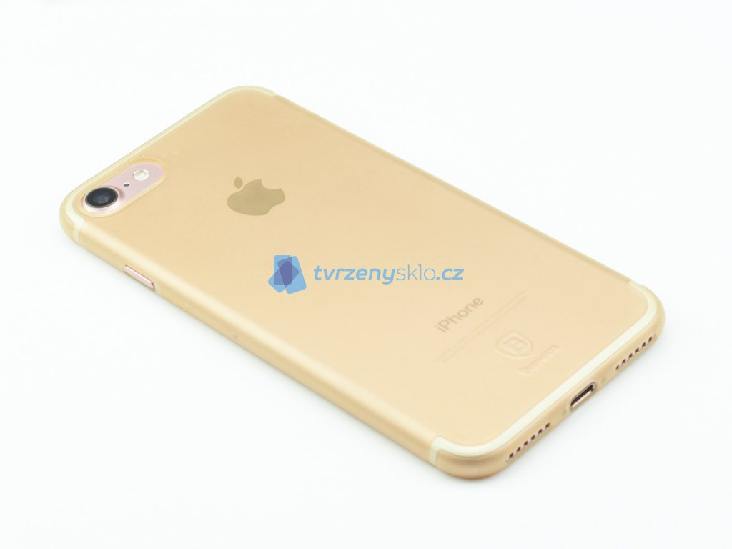 Plastový obal Baseus Simple Series pro iPhone 7, 8 Zlatý