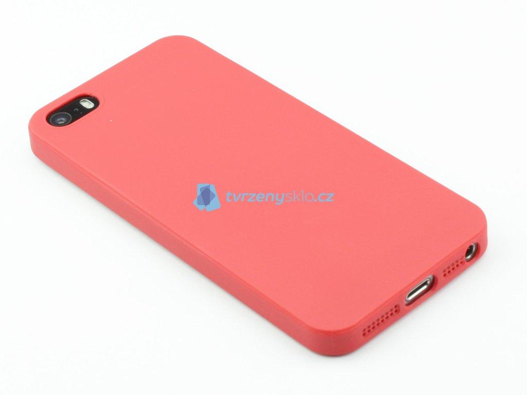TPU Gumový kryt pro iPhone 5,5s,SE Červený