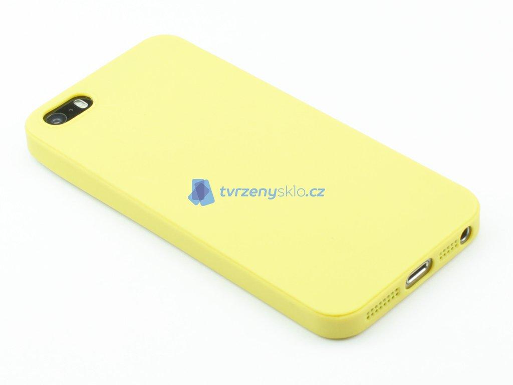 TPU Gumový kryt pro iPhone 5,5s,SE Žlutý