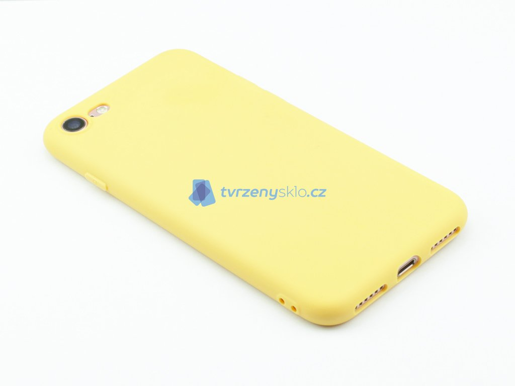 TPU Gumový kryt pro iPhone 7,8 Žlutý