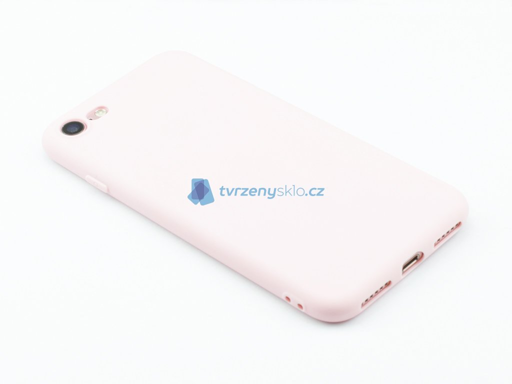 TPU Gumový kryt pro iPhone 7,8 Růžový