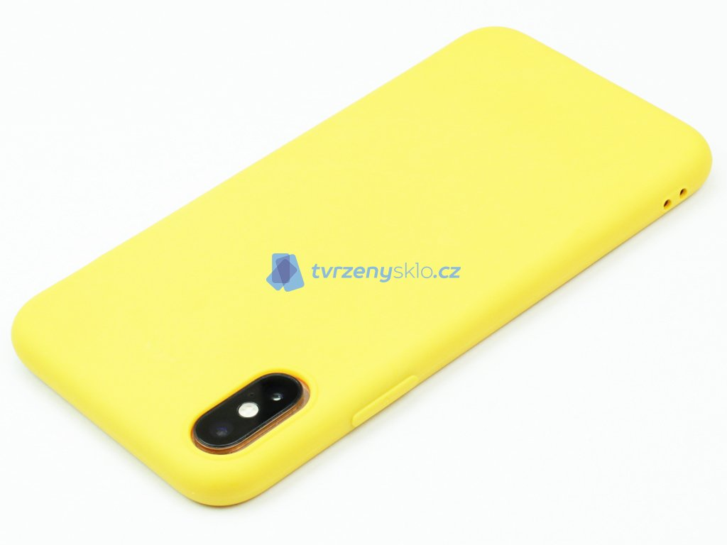 TPU Gumový kryt pro iPhone X,XS Žlutý