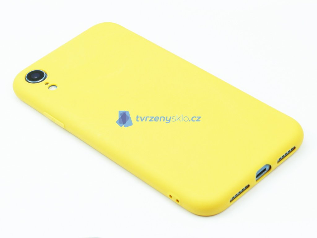 TPU Gumový kryt pro iPhone XR Žlutý