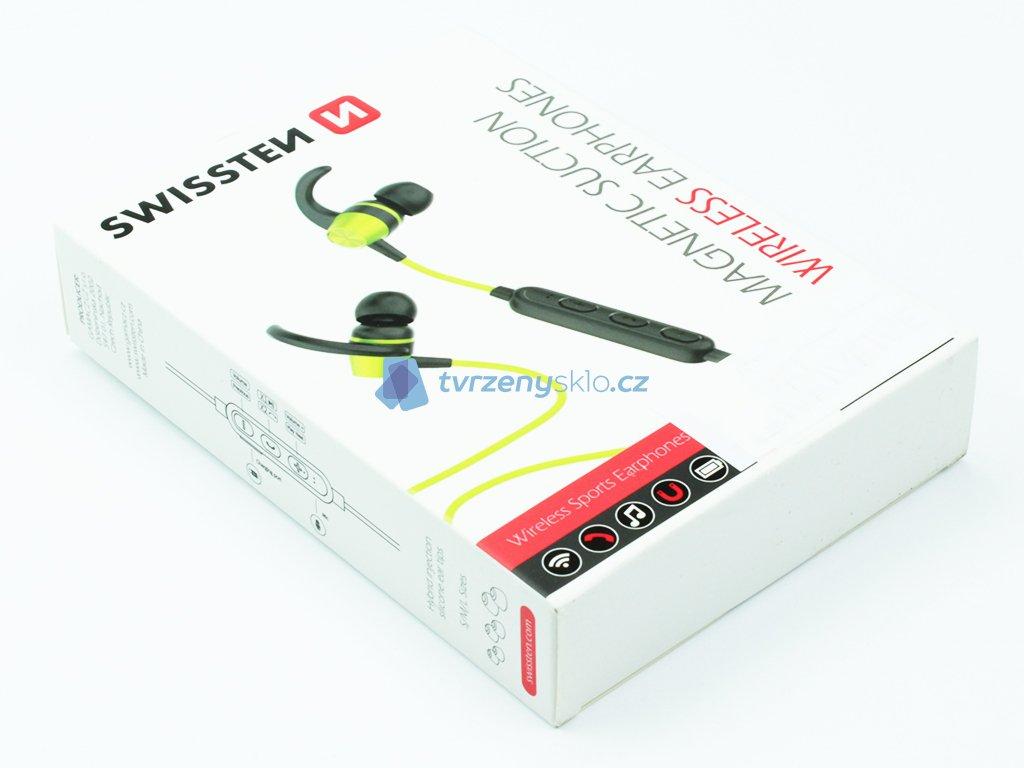 Bluetooth sluchátka Swissten Active Limetková