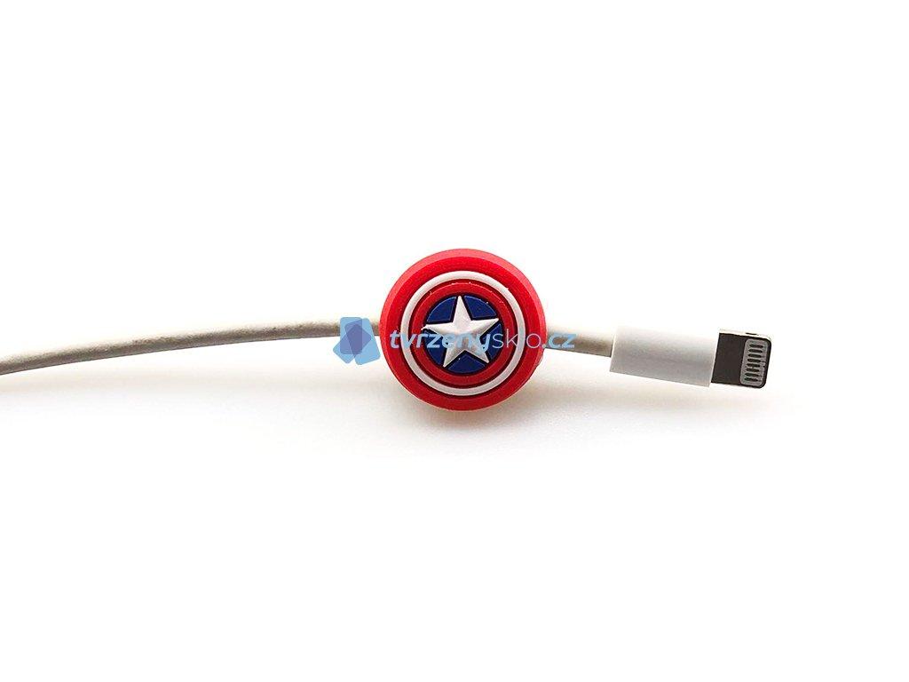 Krytka kabelu s motivem Captain America