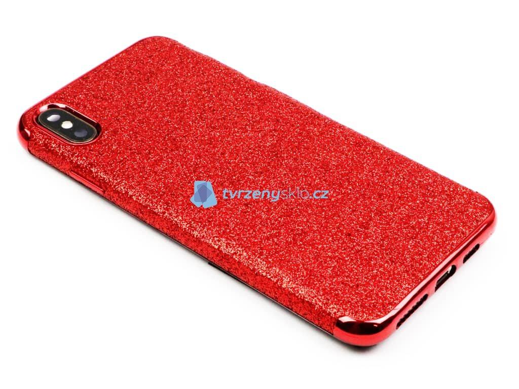 Třpytkový kryt pro iPhone XS Max Červený 1