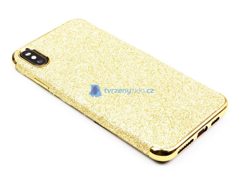 Třpytkový kryt pro iPhone XS Max Zlatý 1