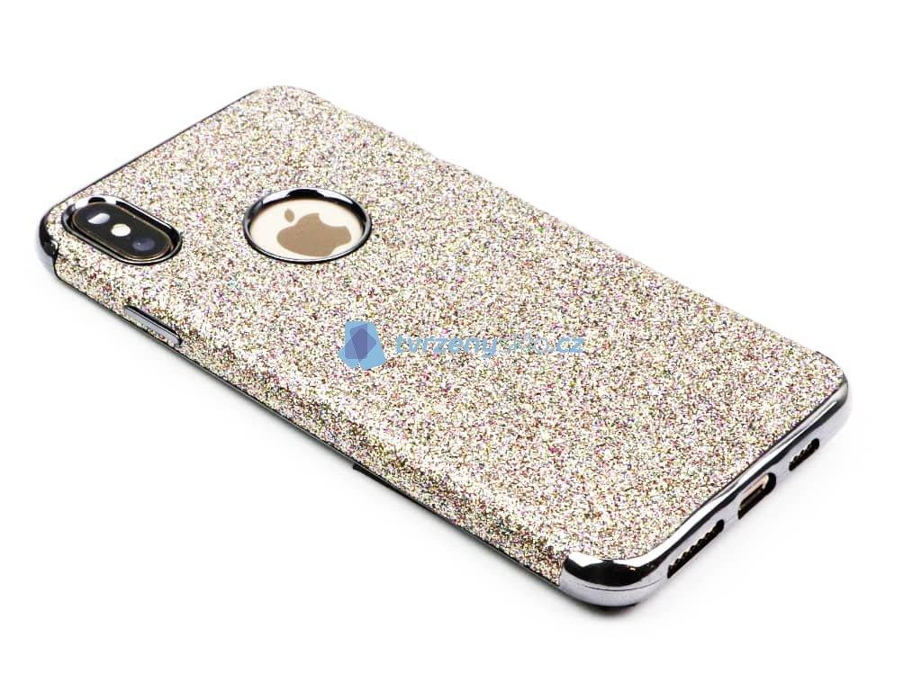 Třpytkový kryt pro iPhone XS Max Stříbrný 1