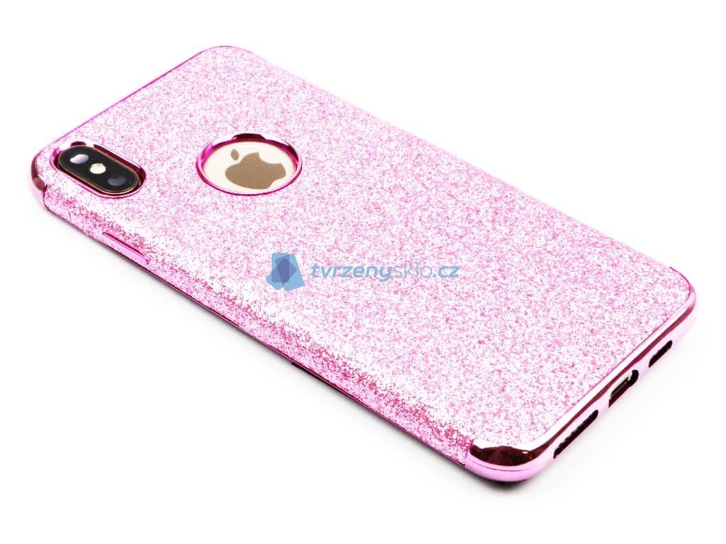 Třpytkový kryt pro iPhone XS Max Růžový 1