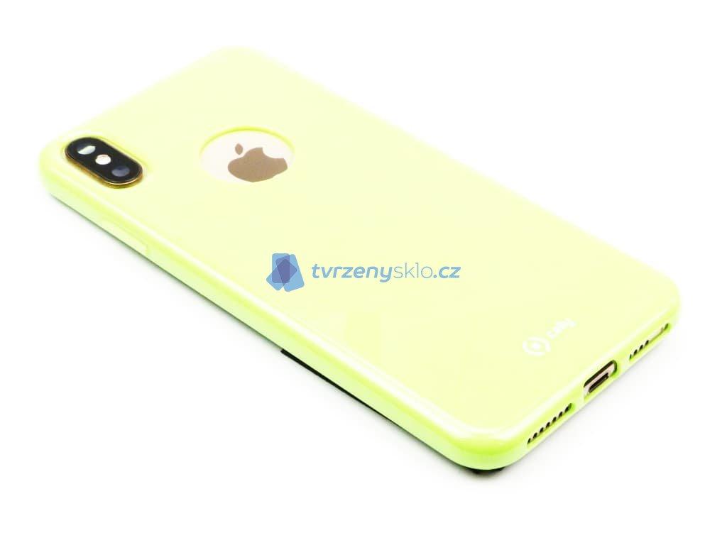 TPU pouzdro CELLY Gelskin pro Apple iPhone XS Max, limetkové 1
