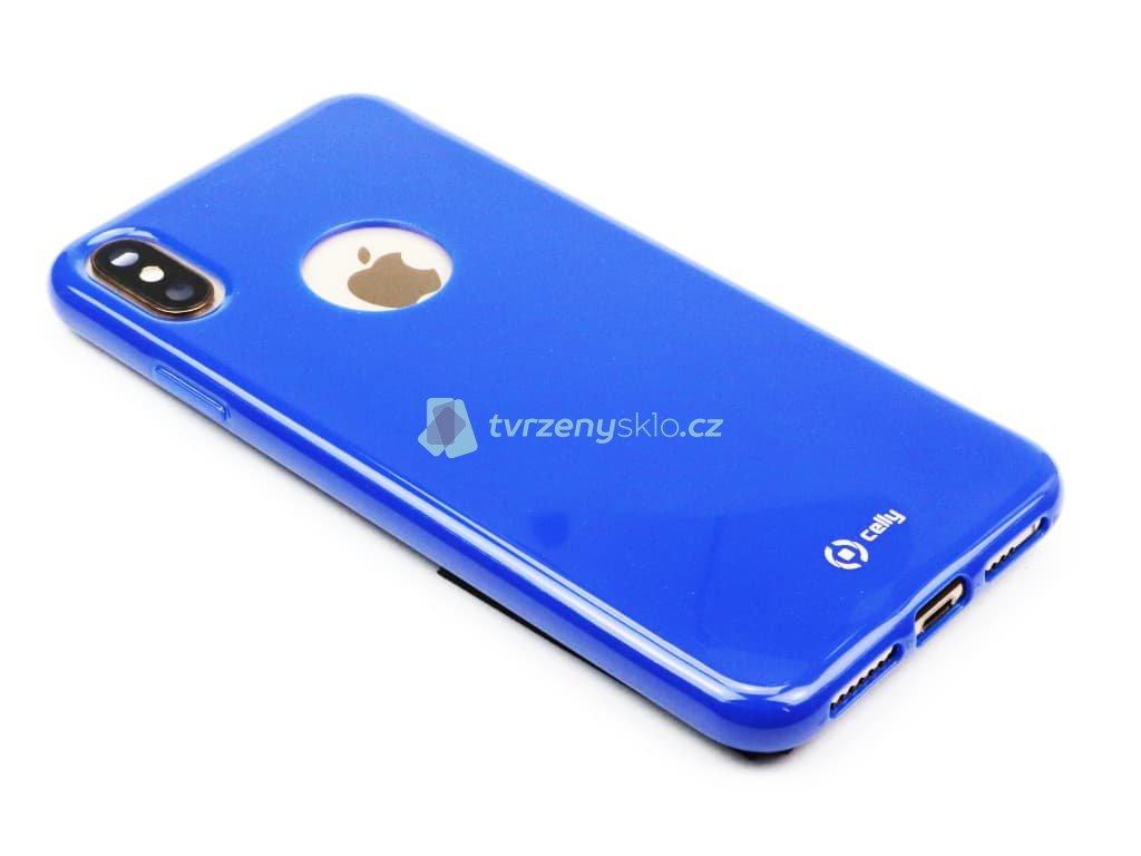 TPU pouzdro CELLY Gelskin pro Apple iPhone XS Max, modré 1