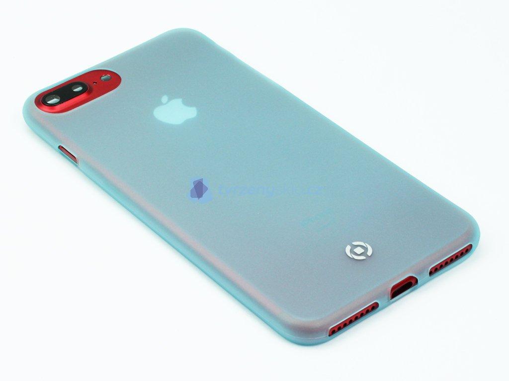 Ultra tenké TPU pouzdro CELLY Frost pro Apple iPhone 7 Plus,8 Plus, 0,29 mm, modré