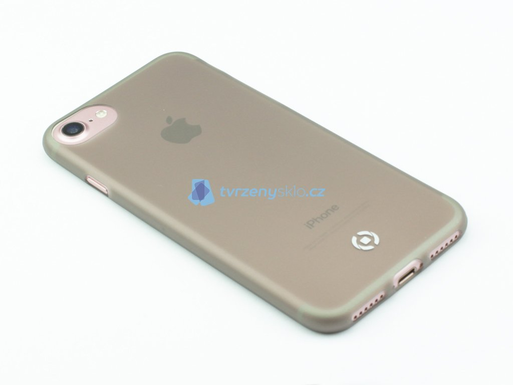 Ultra tenké TPU pouzdro CELLY Frost pro Apple iPhone 7, iPhone 8, 0,29 mm, černé