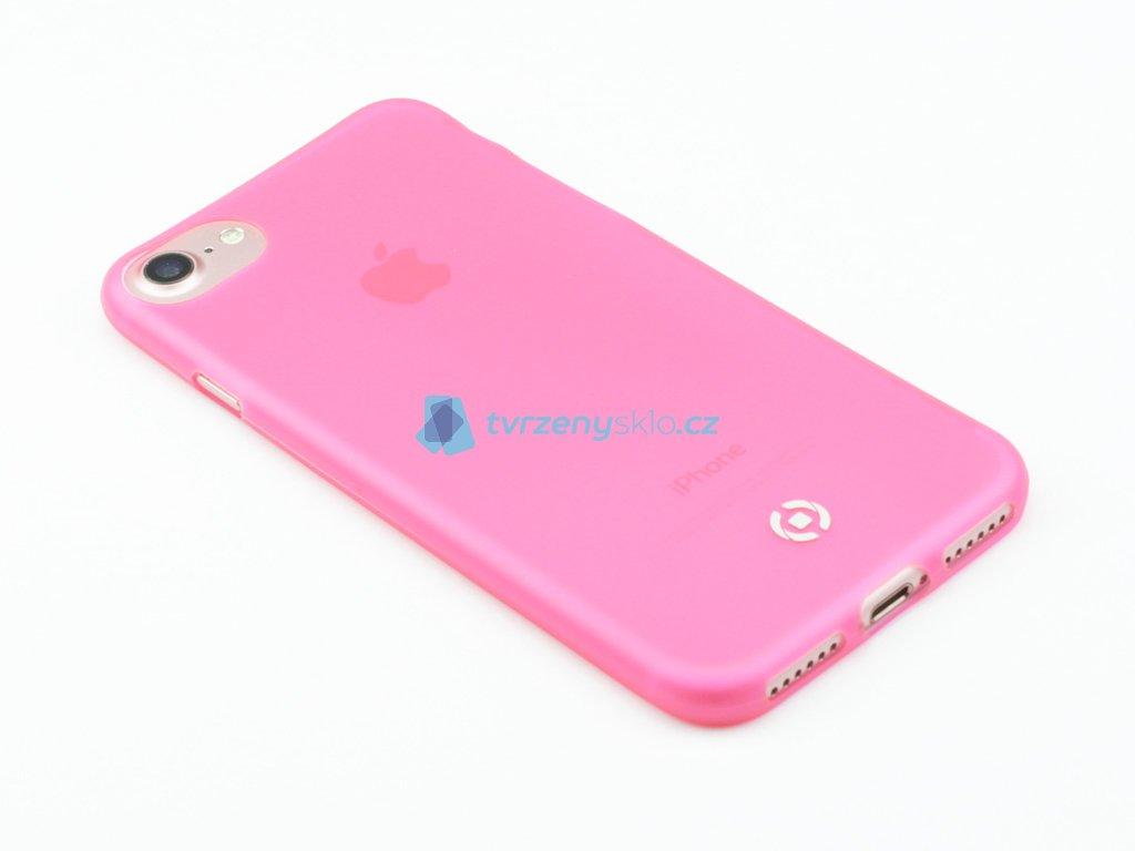 Ultra tenké TPU pouzdro CELLY Frost pro Apple iPhone 7, iPhone 8, 0,29 mm, růžové