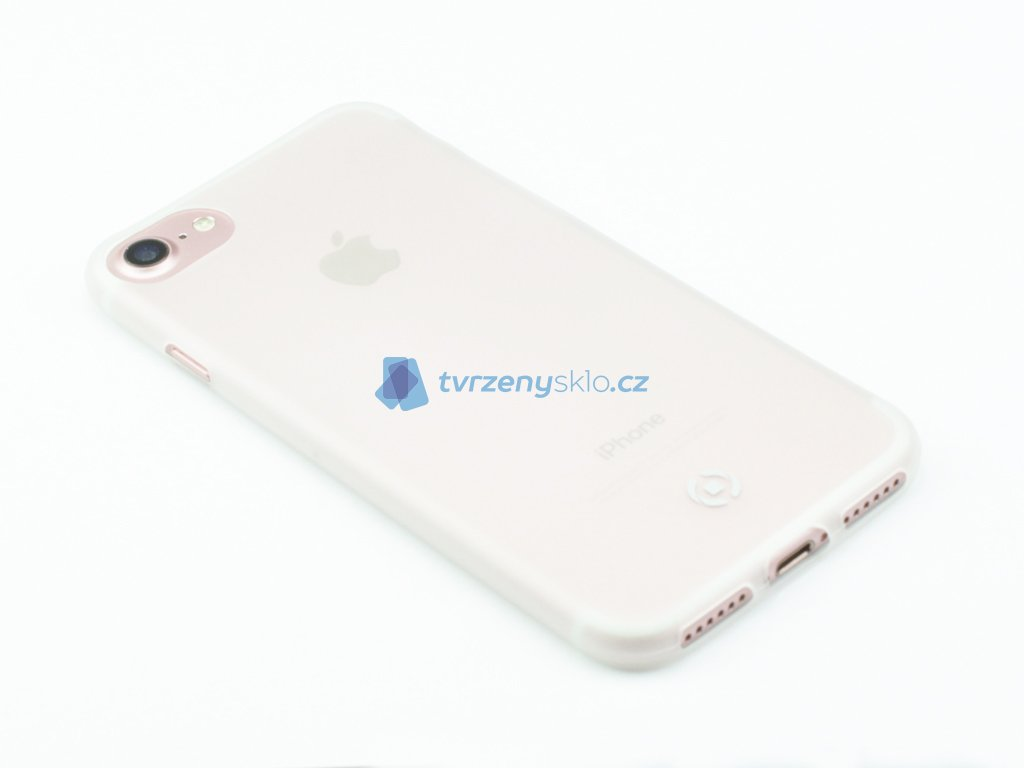 Ultra tenké TPU pouzdro CELLY Frost pro Apple iPhone 7, iPhone 8, 0,29 mm, bílé