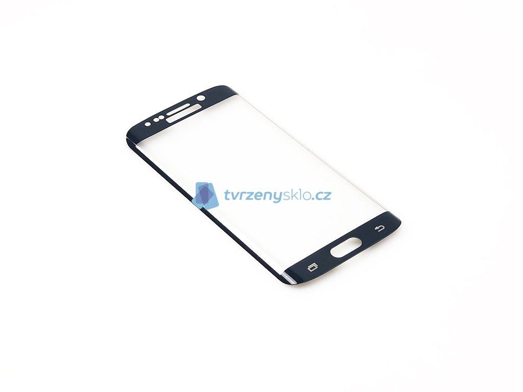 Zaoblené Tvrzené sklo Samsung Galaxy S6 Edge Černé