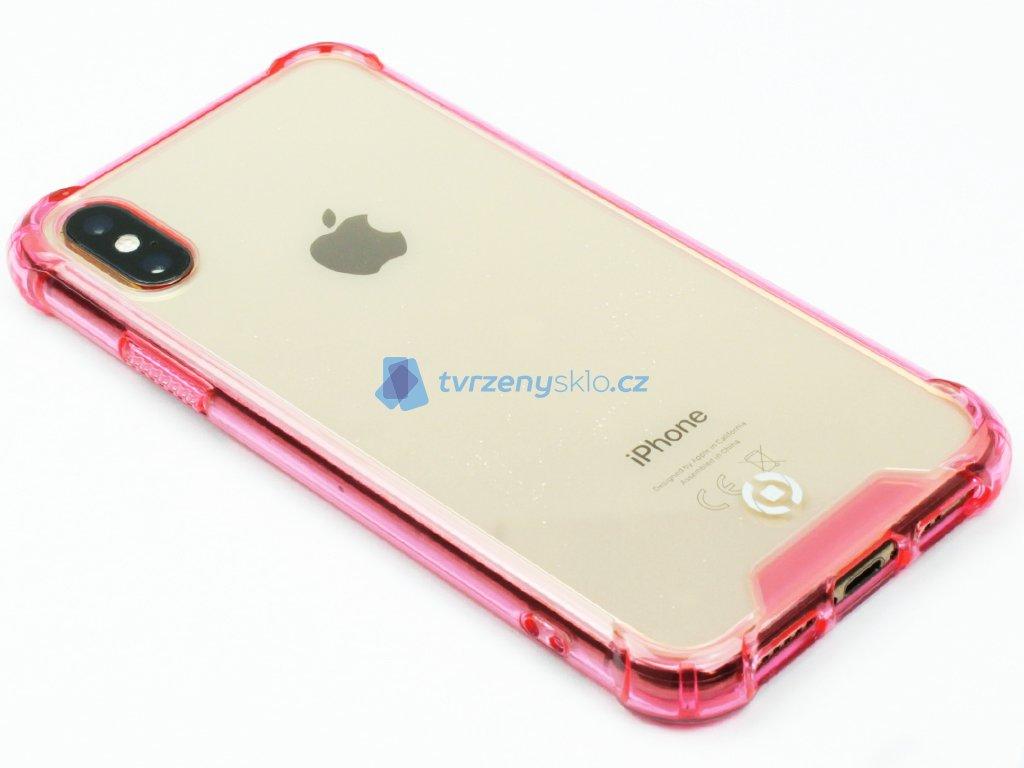 Zadní kryt CELLY Armor pro Apple iPhone X, iPhone XS Růžové