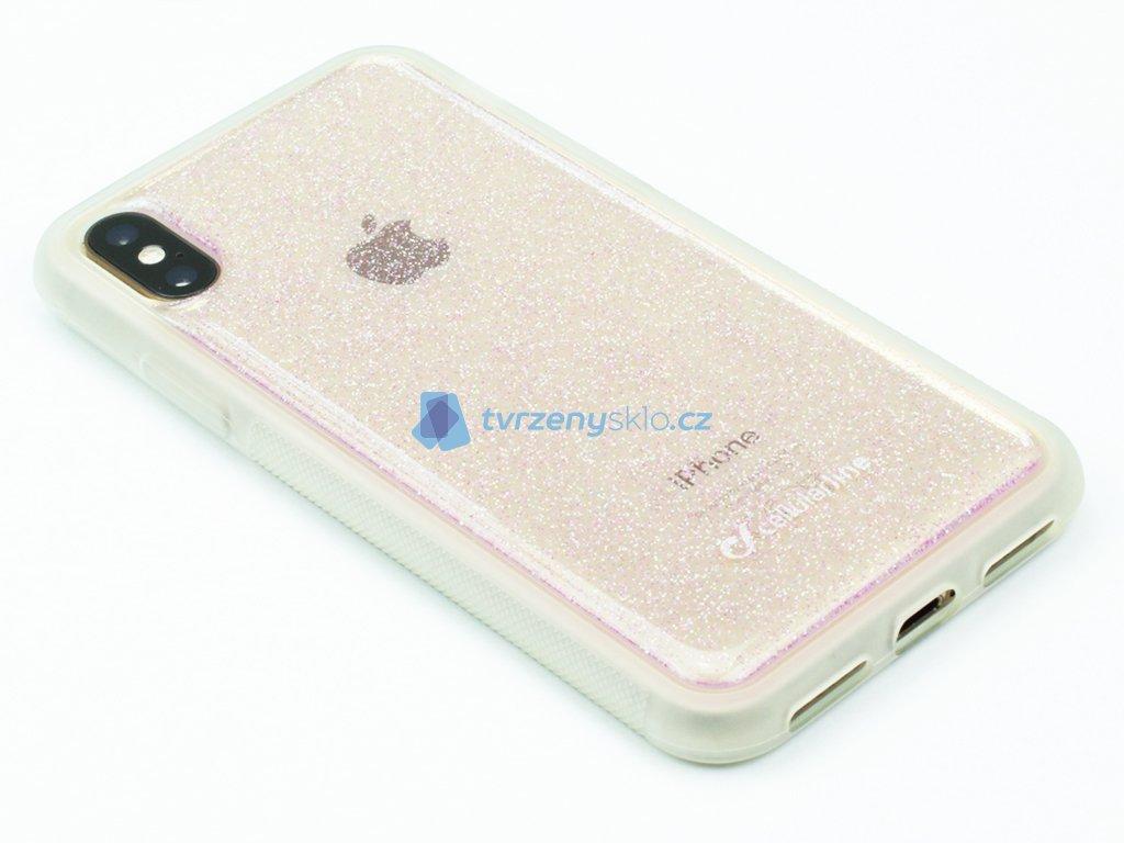 Adhezivní zadní kryt Cellularline SELFIE CASE pro Apple iPhone X, XS Transparentní