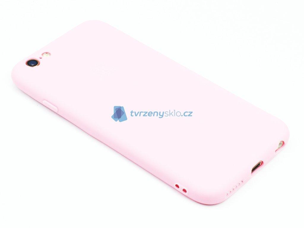 TPU Gumový kryt pro iPhone 6,6s Růžový 1
