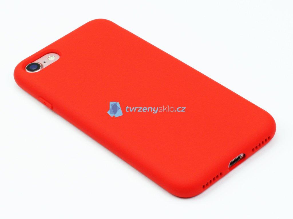 Silikonový kryt na iPhone 7,8 Červený