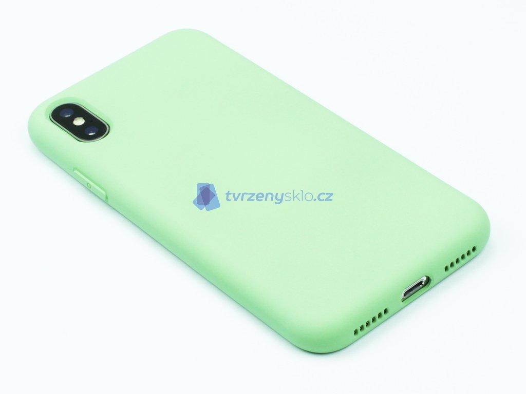 Silikonový kryt na iPhone X,XS Zelený