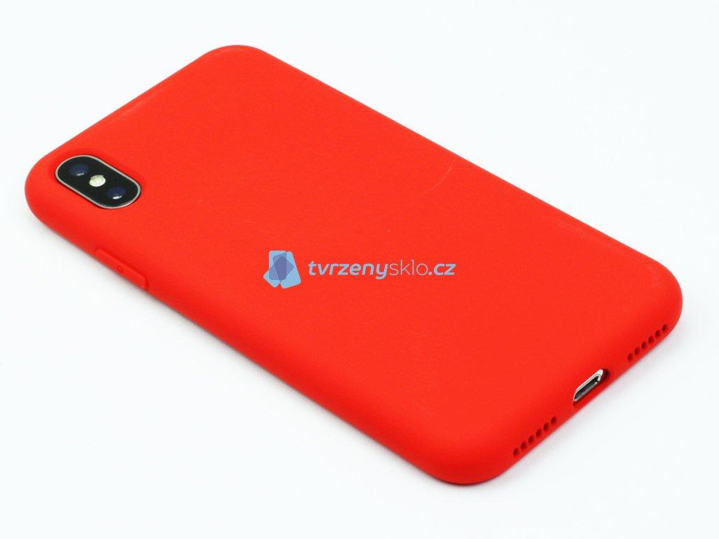 Silikonový kryt na iPhone XS Max - Červený