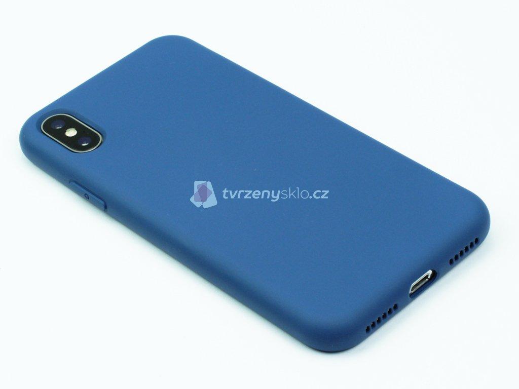 Silikonový kryt na iPhone X,XS Modrý