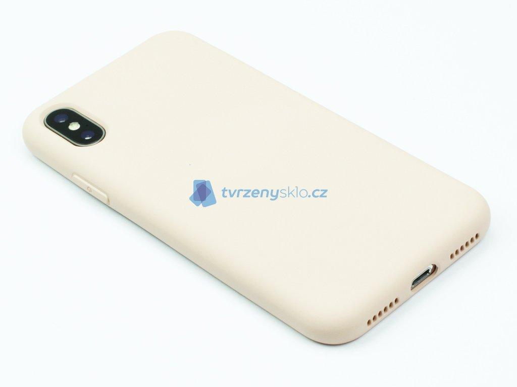 Silikonový kryt na iPhone XS Max - Béžový