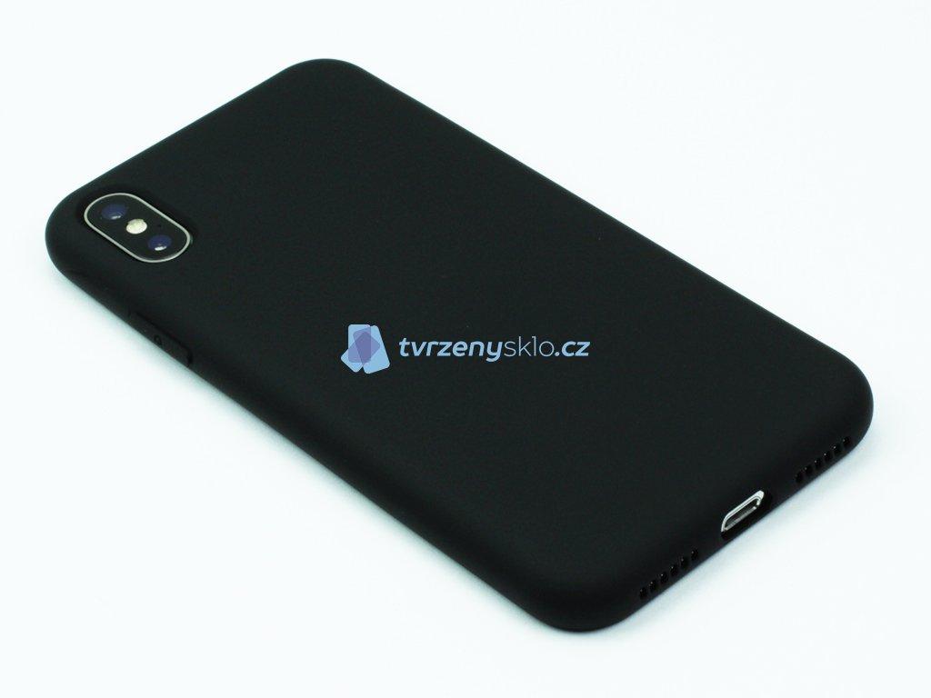 Silikonový kryt na iPhone XS Max - Černý