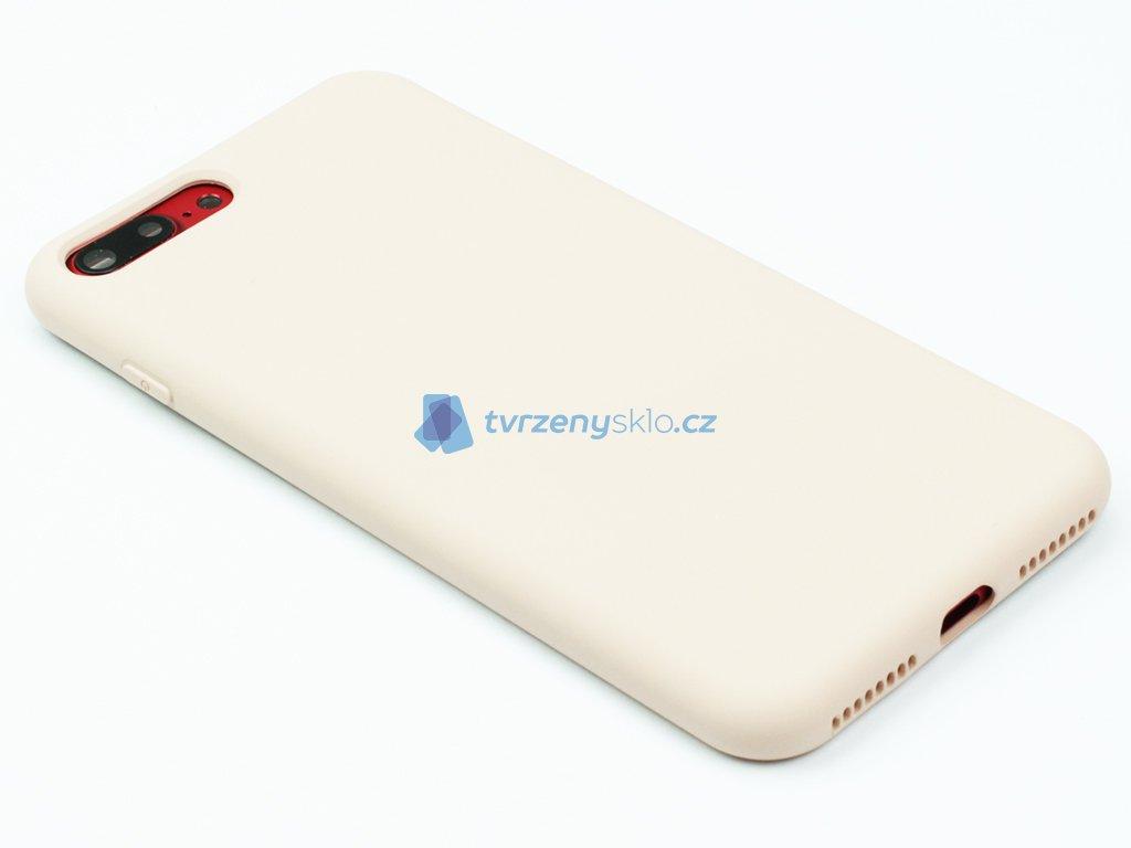 Silikonový kryt na iPhone 7,8 PLUS Béžový