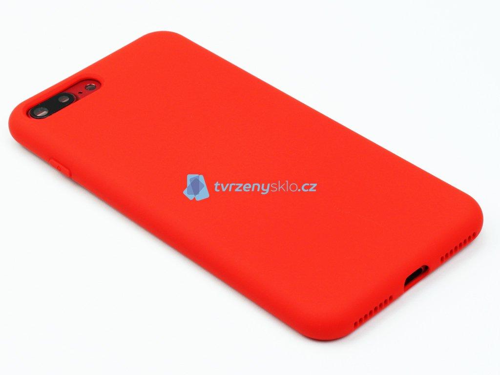 Silikonový kryt na iPhone 7,8 PLUS Červený