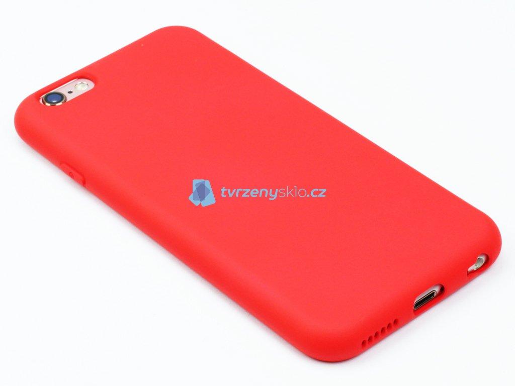 Silikonový kryt na iPhone 6,6s Červený