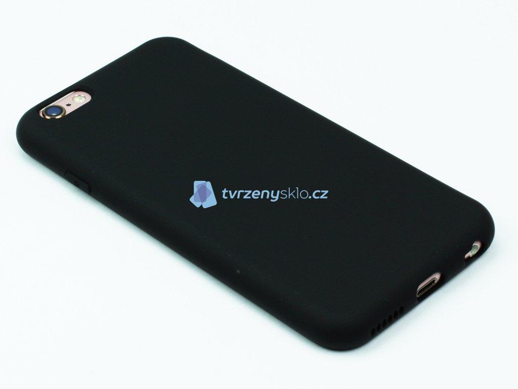 Silikonový kryt na iPhone 6,6s Černý