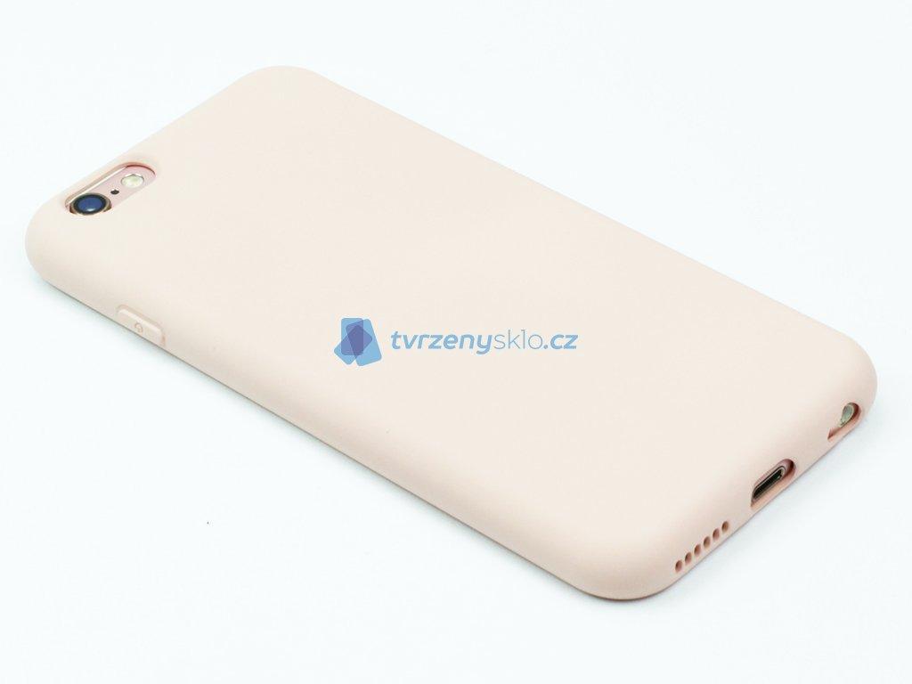 Silikonový kryt na iPhone 6,6s Béžový