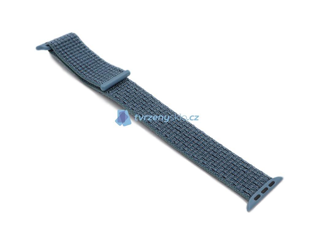 Látkový řemínek na Apple Watch Modrý