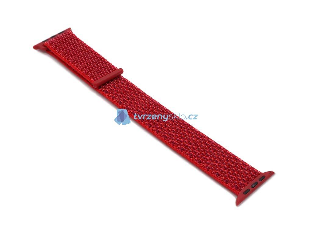Nylonový řemínek na Apple Watch Červený