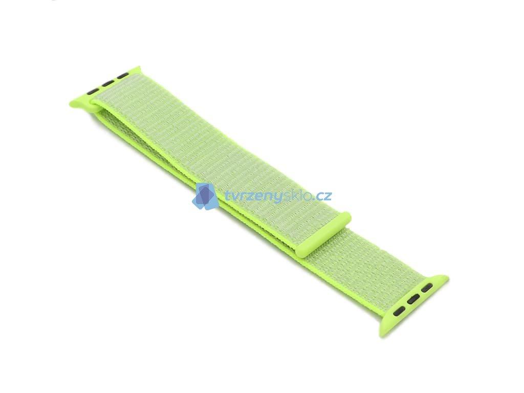 Nylonový řemínek na Apple Watch Zelený