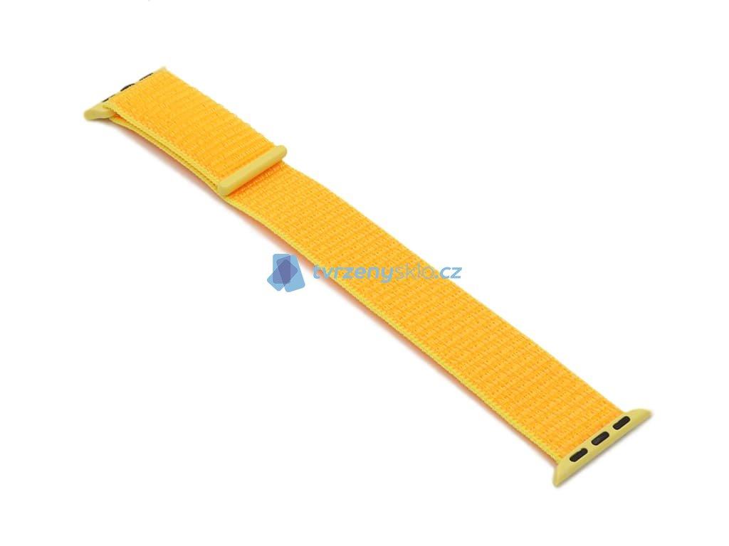 Látkový řemínek na Apple Watch Žlutý