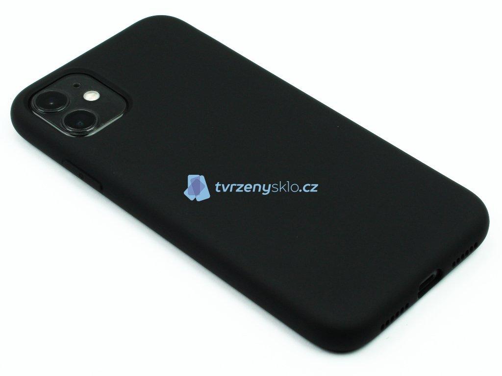 Silikonový kryt na iPhone 11 Černý 1