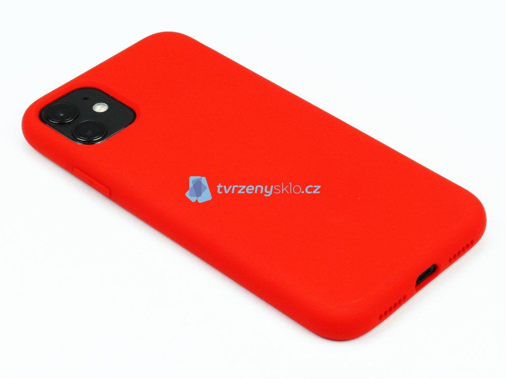 Silikonový kryt na iPhone 11 Červený 1