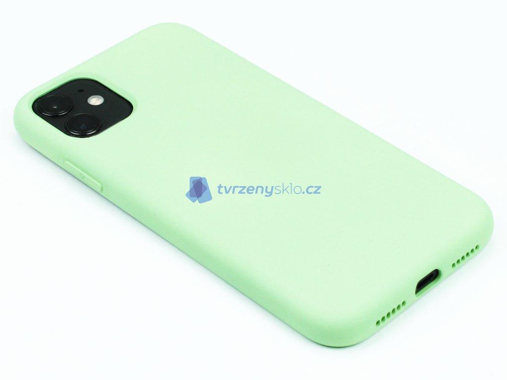 Silikonový kryt na iPhone 11 Zelený 1