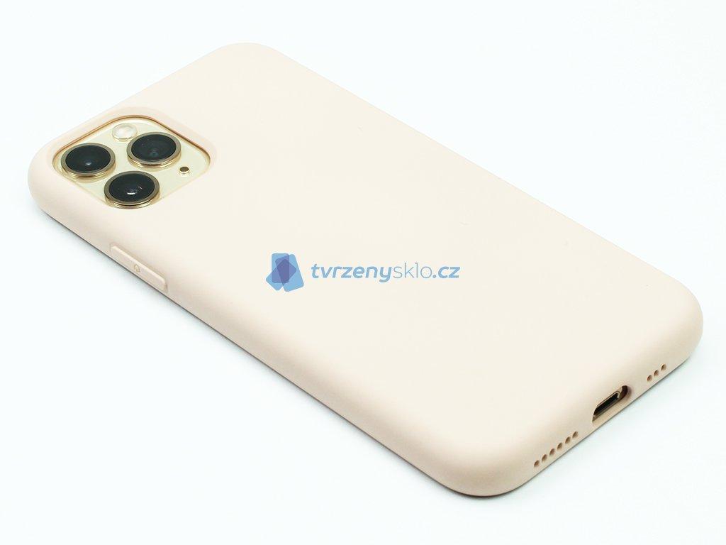 Silikonový kryt na iPhone 11 Pro Béžový 1