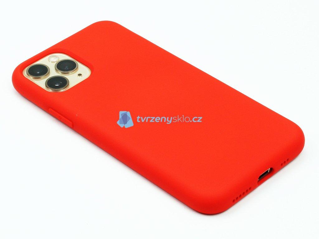 Silikonový kryt na iPhone 11 Pro Červený 1