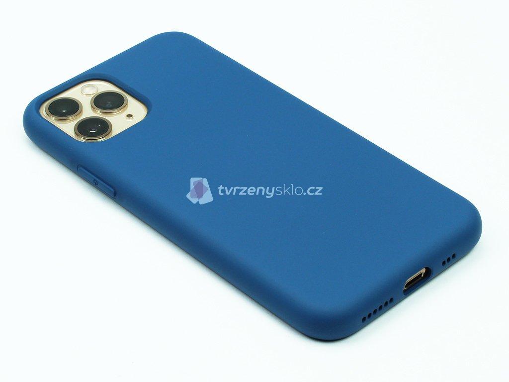 Silikonový kryt na iPhone 11 Pro Max Modrý 1