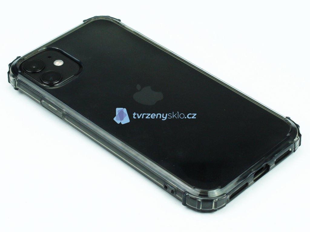 Gumový obal s vyztuženými hranami na iPhone 11 Černý 1