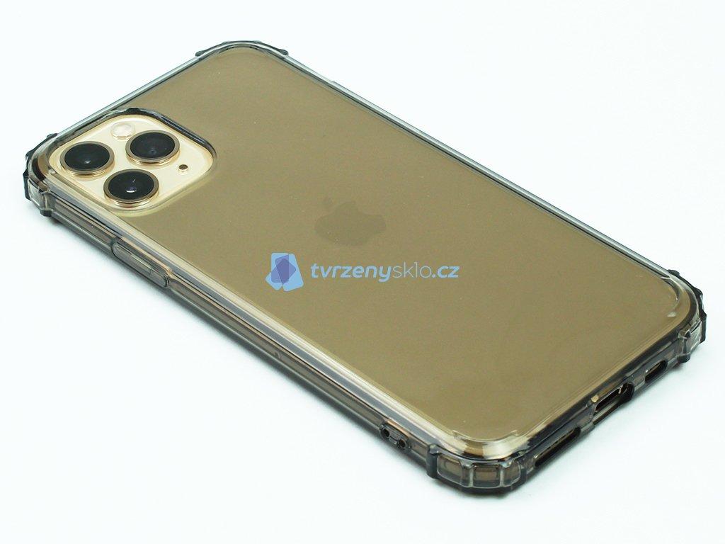 Gumový obal s vyztuženými hranami na iPhone 11 Pro Černý 1